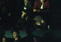 August 15_ 2009_  Robert Pattinson and Kristen Stewart along with the cast of the _Twilight Saga _ Eclipse_ were spotted at the Kings of Leon concert in Vancouver_ Canada.  Robert and Kristen were seen having a great time together_ kissing and laughing. Credit_ INFphoto.com Ref._ infusla_98