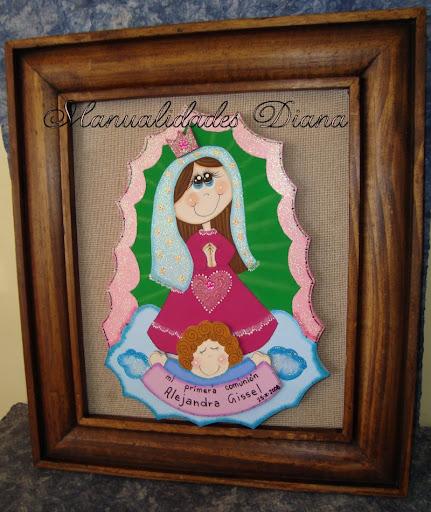 ... Diana: Centro de mesa y cuadro Virgen de Guadalupe moderna