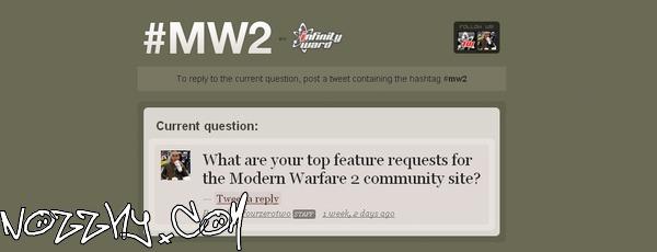 Proposez de nouvelles idées aux développeurs de Call of Duty 6 : Modern Warfare 2