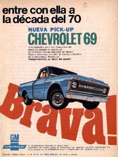 Publicidad Chevrolet 1969