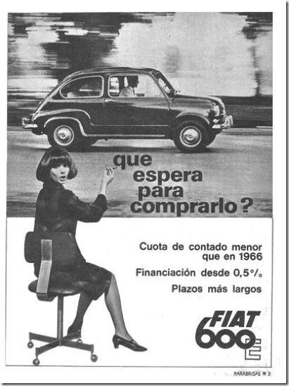 Publicidad Fiat600 1966