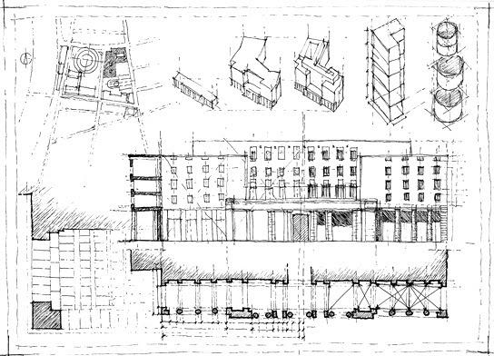 100disegni tavola 2 di rilevamento architettonico for Disegno di architettura online