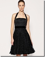 Halter neck with lace skirt