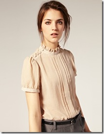 Asos button shoulder blouse