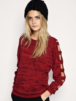 Asos Cut out Sleeve Jumper