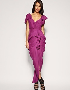 Heavy Draped Maxi Dress
