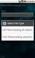 Screenshot of VeryAndroid SMS & MMS Backup