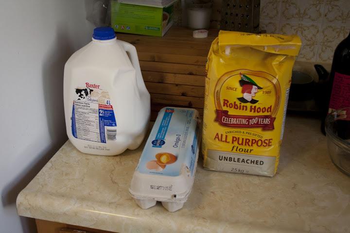 Flour, Milk, Eggs