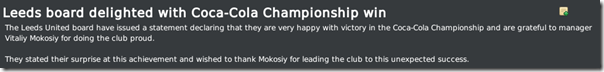 Leeds board delighted with Championship win, FM 2010
