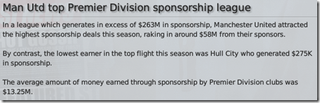 Compare Manchester United and Hull City sponsorships