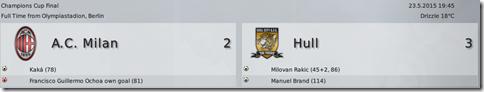 AC Milan - Hull 2:3, extra time