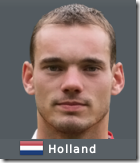 Wesley Snejder in Football Manager 2010