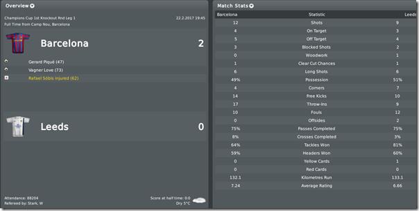 Barcelona - Leeds 2:0