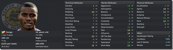 Francis Zenaba in Football Manager 2011