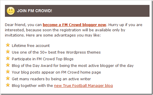 Join Football Manager Crowd