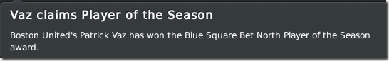 Patrick Vaz - the player of the season in FM 2011