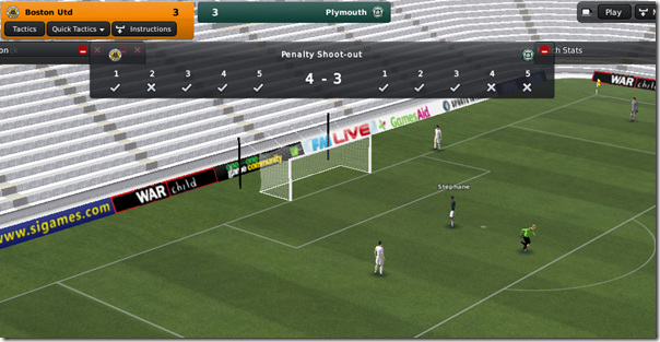 Penalty thriller, League 1, FM 2011
