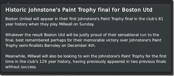 Historic JPT final for Boston United, FM 2011