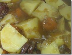 Patatas con Chorizo: Preparado para cerrar la olla.