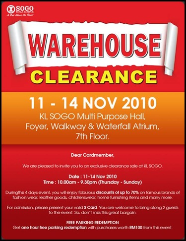 kl sogo clearance sale!