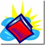 Book  with sun clip art