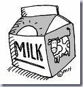 Milk Black and White Clip Art