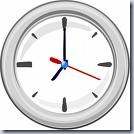 Silverish Clock