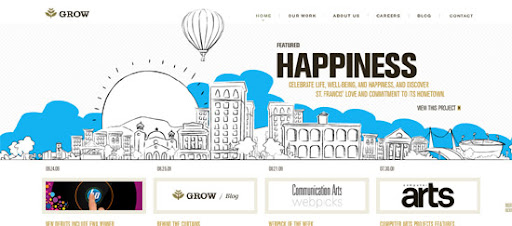 Grow Interactive - Inspiring cityscape in web design example