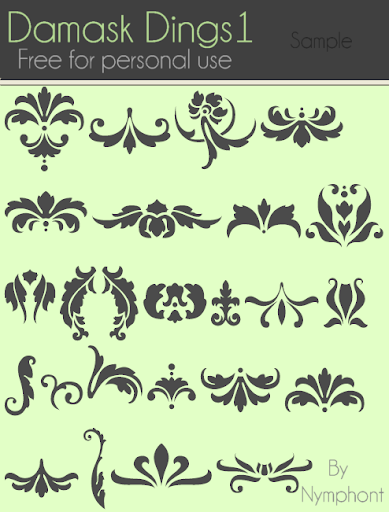 Damask Dings 1 Font Sample