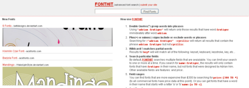 FontHit - advanced font search