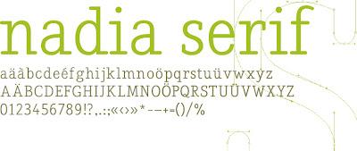 Nadia Serif font