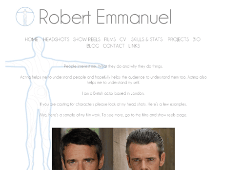 Fonts In Use: Robert Emmanuel - Actor