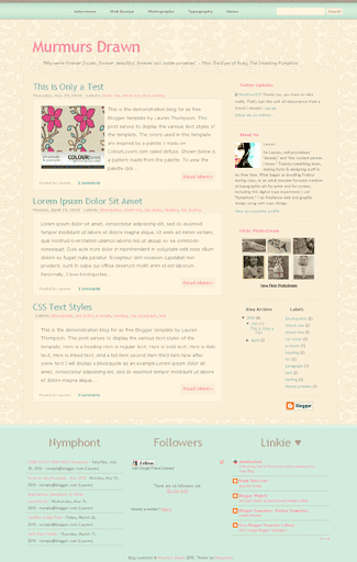 Free Blogger Template: Murmurs Drawn