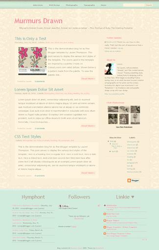 Free Blogger Template: Murmurs Drawn
