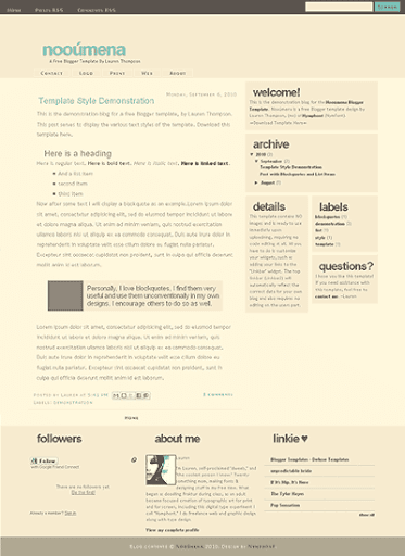 Nooumena Blogger Template