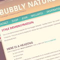 Bubbly Nature Blogger Template