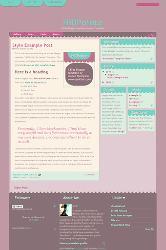 Free Blogger Template: HillPointeScreencap