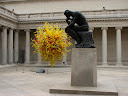 Rodin contemplates Chihuly, at the Legion of Honor Museum in San Francisco