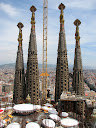 Spires of the Sagrada Família church