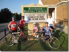 Riverside Baptist Church sign