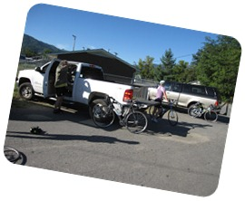 Group prepping for ride