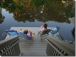 Morning coffee on the dock!
