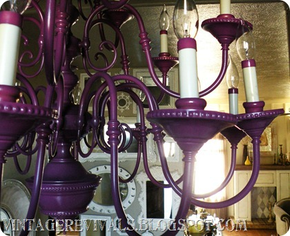 Thrift Store Chandelier Purple 015
