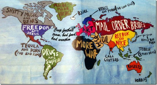 Not pc a useful world map their supporters support team very kindly prepared for them a helpful map showing what they thought would be the worlds main points of interest gumiabroncs Image collections