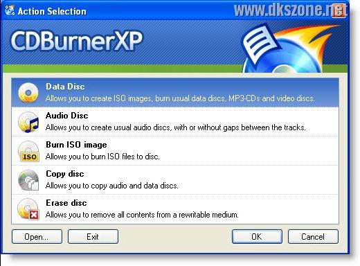 CDBurnerXP free burning software