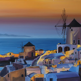 Oia, Santorini by Jonguy Demontigny - Painting All Painting