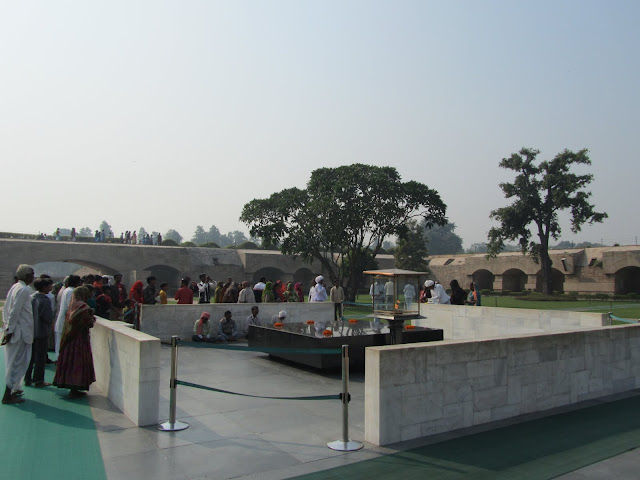 Raj Ghat is a memorial to Mahatma Gandhi