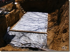 tarped slab