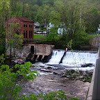 The falls in Collinsville during the summer.