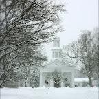 Winter historical church